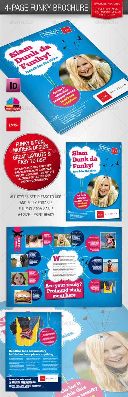 GraphicRiver Funky Brochure Template