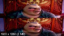 Золушка: Полный вперед! в 3Д / Cendrillon au Far West 3D (2012) BDRip 1080p / 8.57 Gb [Half OverUnder / Вертикальная анаморфная стереопара]